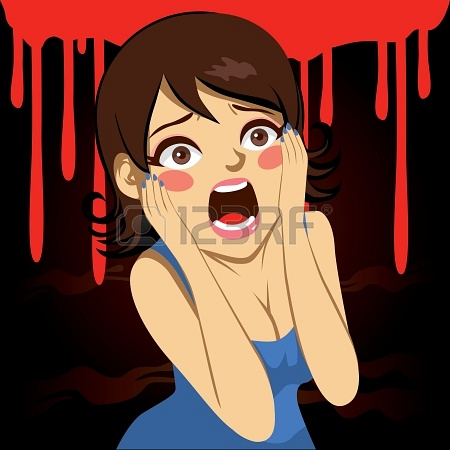 22145596-illustration-of-a-pretty-girl-screaming-over-bloody-background-in-halloween-holiday-party