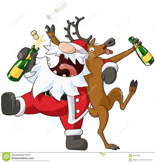 party-christmas-cartoon-celebration-humorous-vector-isolated-35413955